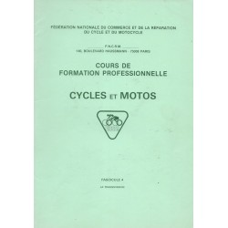 Cours formation cycles et motocycles (1970 / 80): Transmission