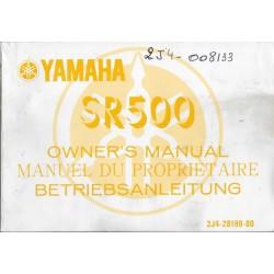 YAMAHA SR 500 de 1978 Type 2J4 (03 / 1978)