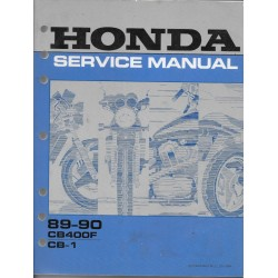 HONDA CB 400F CB-1 (manuel atelier en anglais 1989 / 1990)