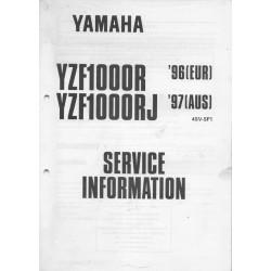 YAMAHA YZF 1000 R de 1996 et YZF 1000 RJ de 1997