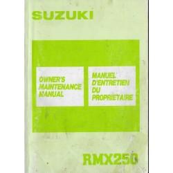 SUZUKI RMX 250 (Manuel atelier 02 / 1989) modèle 1989