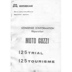MOTO GUZZI 125 trial / 125 tourisme (notice réparation)