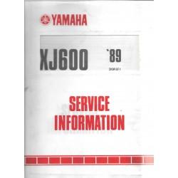 Manuel d'atelier Yamaha xj 600 1989