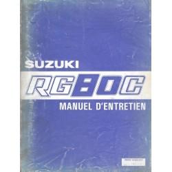 Manuel atelier SUZUKI RG 80 C 1985