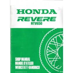 HONDA REVERE NTV 650 (Additif décembre 1992)