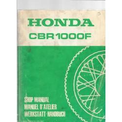 HONDA CBR 1000F (Manuel de base janvier 1987)