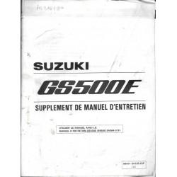 Manuel atelier SUZUKI GS 500 ET modèle 1996