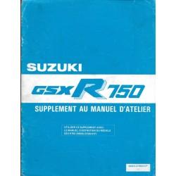 Manuel atelier SUZUKI GSX-R 750 G modèle 1986