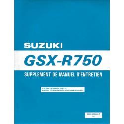 Manuel atelier SUZUKI GSX-R 750 W (additif 11 / 97) français
