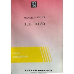 PEUGEOT TLX - TXT 80 (Manuel atelier 09 / 1983)