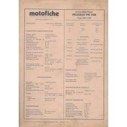 Motofiche cyclomoteur Peugeot PR-TSR Type BB 3 SP