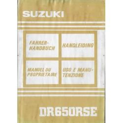 SUZUKI DR 650 RSEN modèle 1992 (09 / 1991)