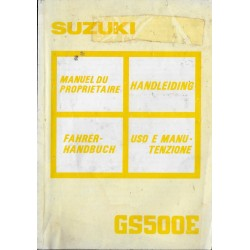 SUZUKI GS 500 E (K) de 1989 (12 / 1988)