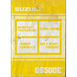 SUZUKI GS 500 E (M) de 1991 (07 / 1990)