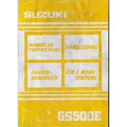 SUZUKI GS 500 E (N) de 1992 (05 / 1991)