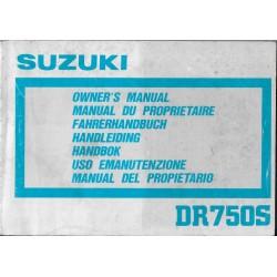 SUZUKI DR 750 SJ modèle 1988 (10 / 1987)