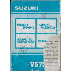 SUZUKI VS 750 M modèle 1991 (07 / 1990)