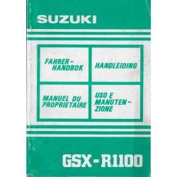 SUZUKI GSX-R 1100 N modèle 1992 (06 / 1991)