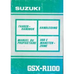 SUZUKI GSX-R 1100 M modèle 1991 (10 / 1990)