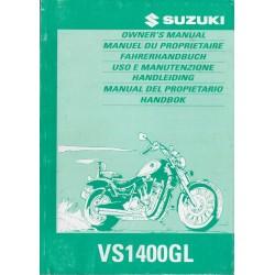 SUZUKI VS 1400GL (V) modèle 1997 (04 / 1996)