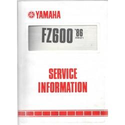 Manuel d'atelier Yamaha FZ 600 1986
