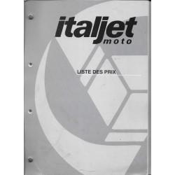 Italjet Moto liste des prix 1999