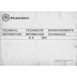 Piaggio Renseignements techniques (1991)