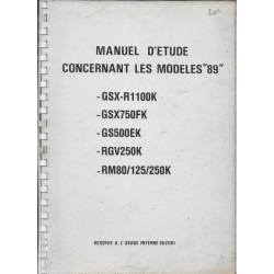 SUZUKI Manuel technique entretien modèles 1989