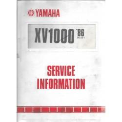 Manuel d'atelier Yamaha XV 1000 1986