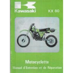 KAWASAKI KX 80-C1-D1 (Manuel atelier 1980 / 81) en français