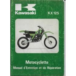 KAWASAKI KX 125-A7 de 1981 (Manuel atelier français 07 /80)