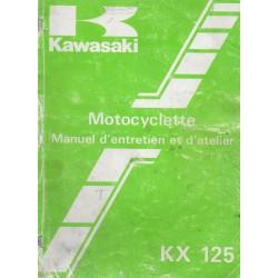 KAWASAKI KX 125-D1 de 1985 (Manuel atelier 10 /84) français