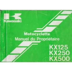 KAWASAKI KX 125 F1 / 250 F1 / 500 D1 de 1987