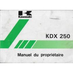 KAWASAKI KDX 250 (KDX 250-E2) de 1992 (12 /1991)