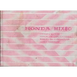 HONDA MTX 80 de 1983 (manuel utilisateur 04 / 1983)