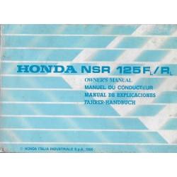 HONDA NSR 125 L de 1991 (manuel utilisateur 09 / 1990)