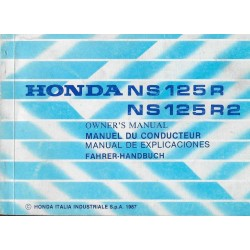 HONDA NSR 125 R / R2 de 1987 (manuel utilisateur 02 / 1987)