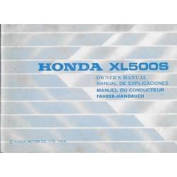 HONDA XL 500 S de 1979 (manuel utilisateur 07 / 1979)