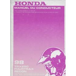 HONDA TRX 250 Fourtrax Recon de 1998 (06 / 1997)