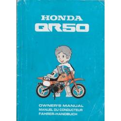 HONDA QR 50 de 1998 (manuel utilisateur 07 / 1997)