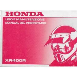 HONDA XR 400 R de 1999 (manuel utilisateur 09 / 1998)