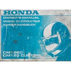 HONDA CM 125 C de 1994 (manuel utilisateur 02 / 1994)