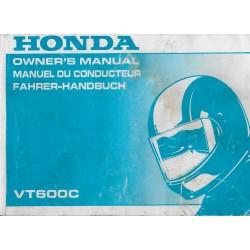HONDA VT 600 C de 1994 (manuel utilisateur 10 / 1993)