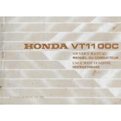 HONDA VT 1100 C de 1988 (manuel utilisateur 08 / 1987)