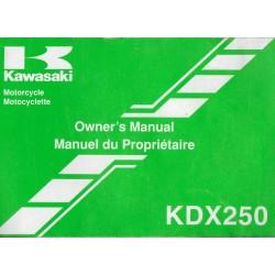 KAWASAKI KDX 250-D3 de 1993 (09 / 1992)