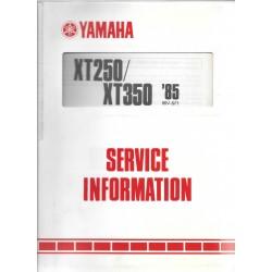 Manuel d'atelier Yamaha XT 250 / 350