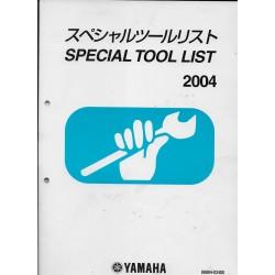 Special Tool List 2004 -Spécial outillage Yamaha