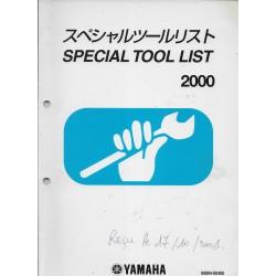 Special Tool List 2000 -Spécial outillage Yamaha