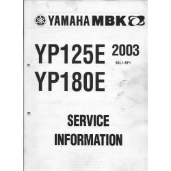 Yamaha MBK YP 125 E / YP 180 E 2003 (informations techniques)