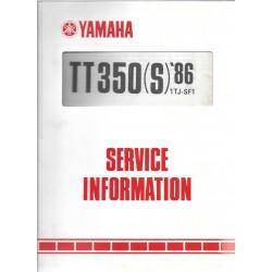 Manuel d'atelier Yamaha TT 350 S 1986